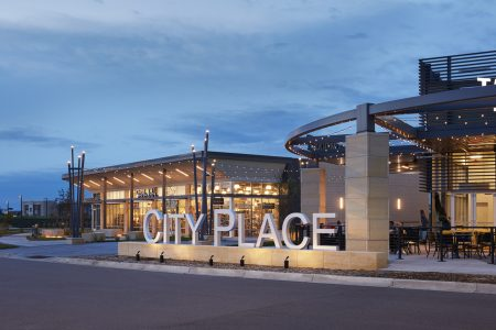 City Place entry, branding, signage.