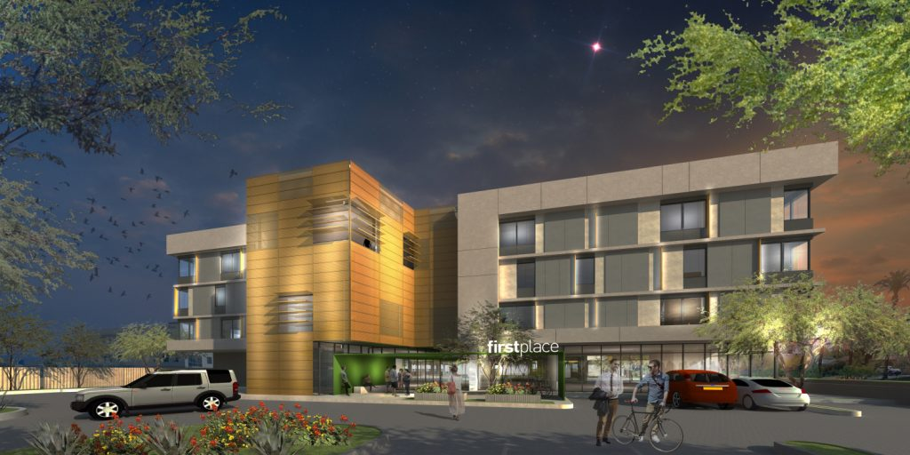 FirstPlace, Night Exterior Rendering