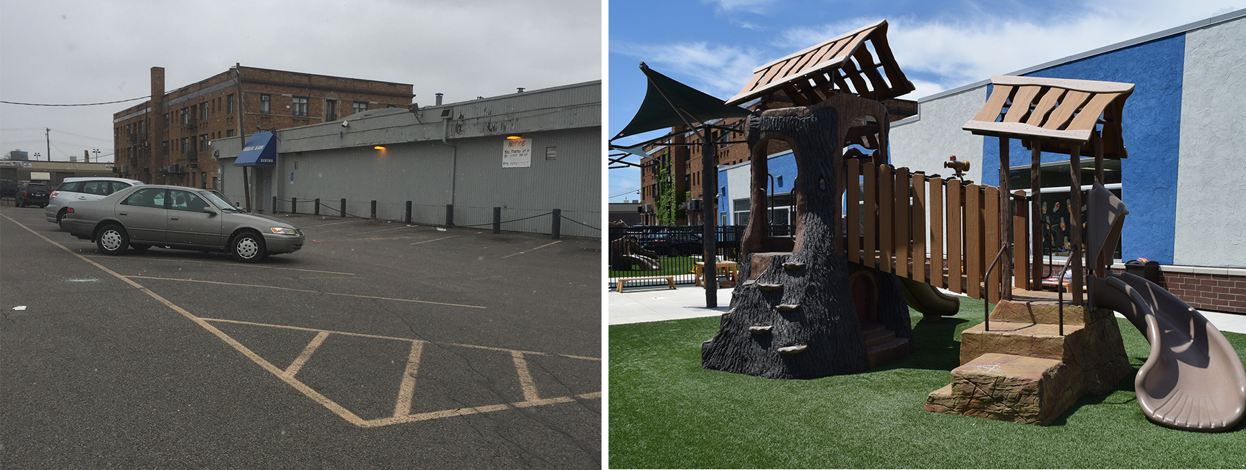 New Horizons Before and After Jungle Gym